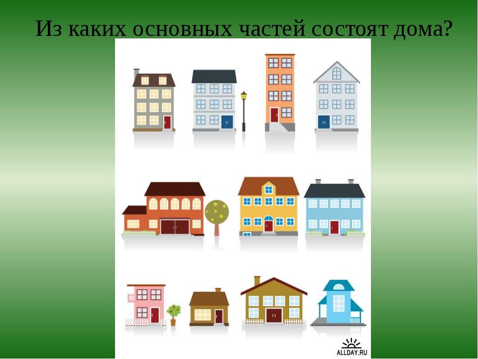 Из каких основных частей состоят дома?