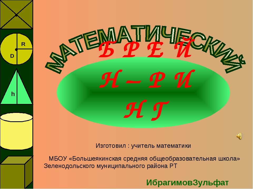 Б Р Е Й Н – Р И Н Г Изготовил : учитель математики МБОУ «Большеякинская средн...