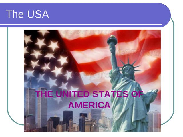 The USA THE UNITED STATES OF AMERICA