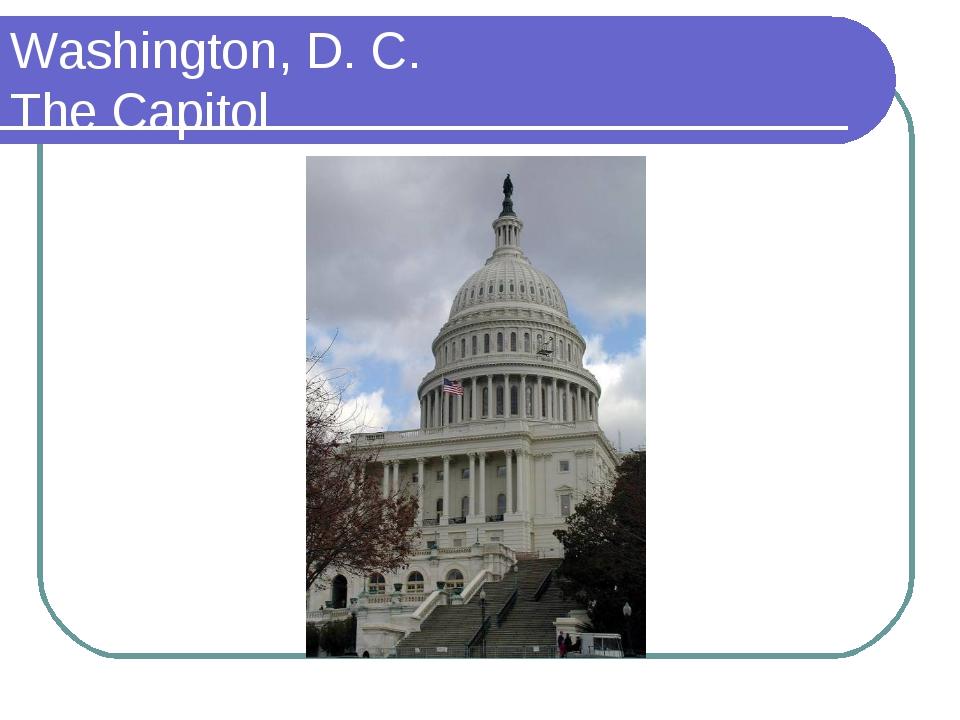 Washington, D. C. The Capitol
