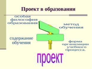Проект в образовании