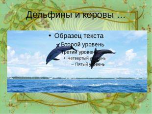Дельфины и коровы … Миллион лет назад у дельфинов были лапы. Если вы внимател