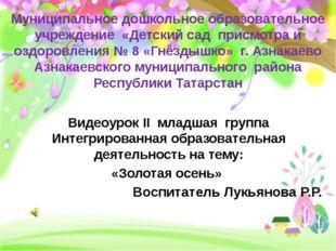 Муниципальное дошкольное образовательное учреждение «Детский сад присмотра и