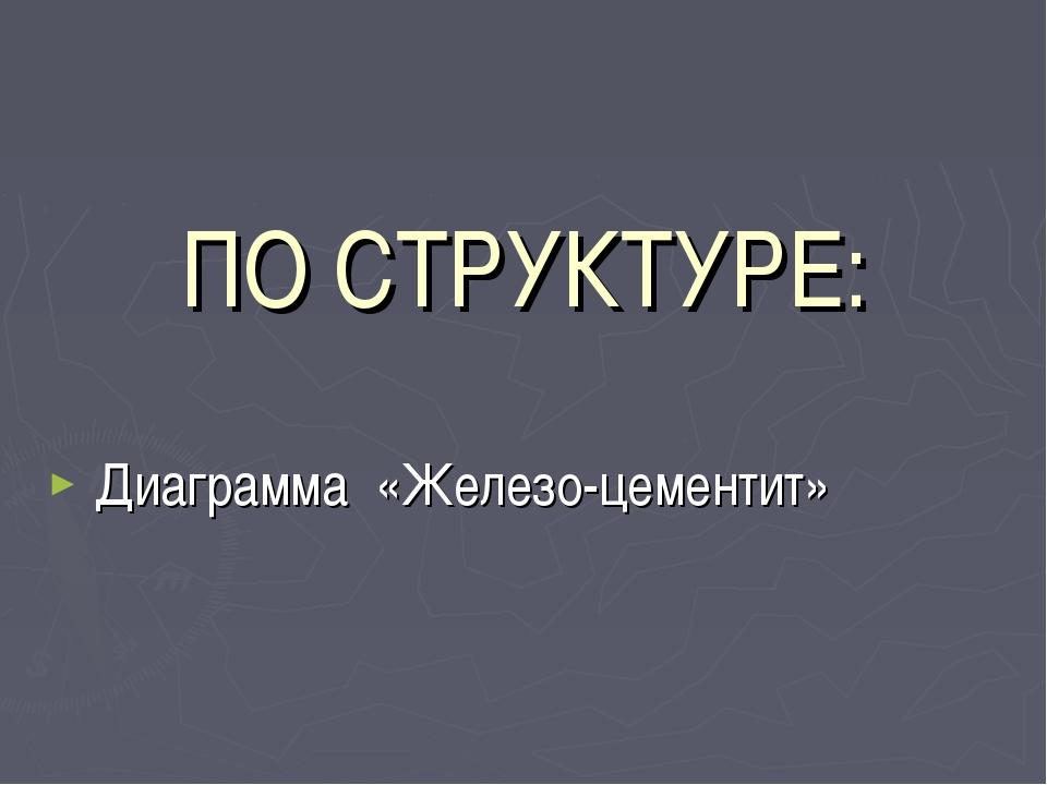 ПО СТРУКТУРЕ: Диаграмма «Железо-цементит»