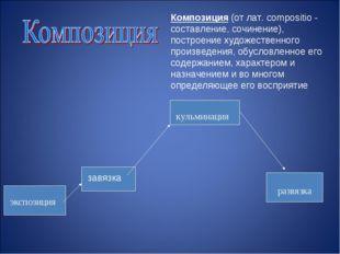 Композиция (от лат. compositio - составление, сочинение), построение художест