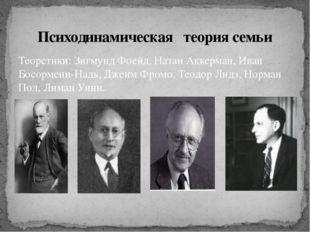Теоретики: Зигмунд Фоейд, Натан Аккерман, Иван Босормени-Надь, Джеим Фромо, Т