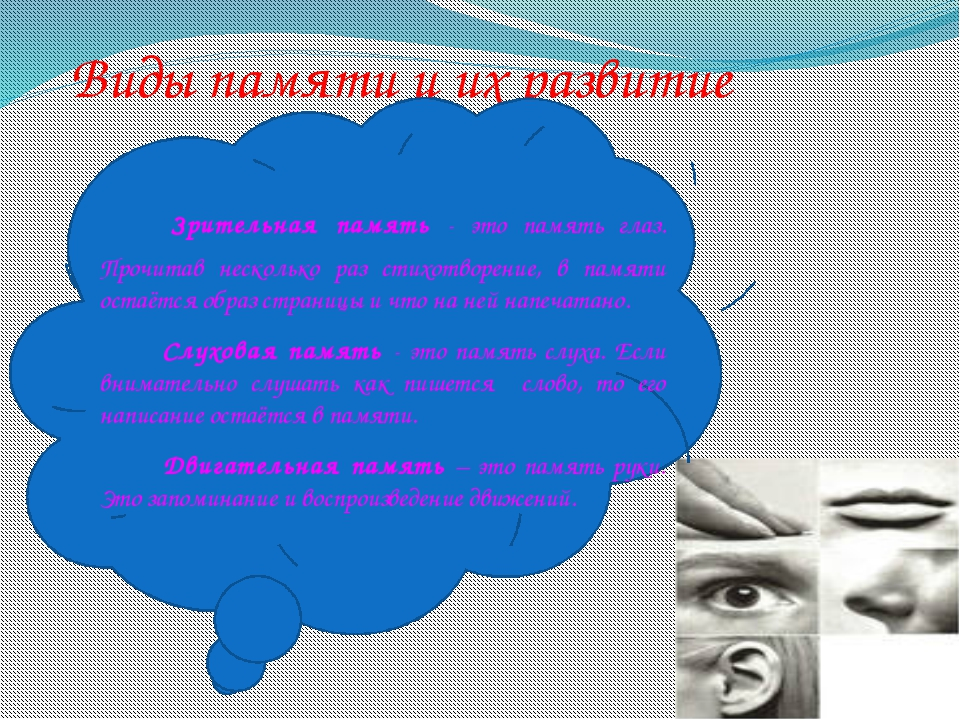 Виды памяти и их развитие Зрительная память - это память глаз. Прочитав неск...