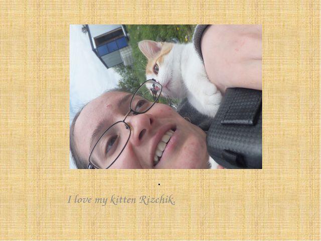 . I love my kitten Rizchik.