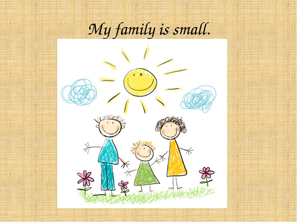 My family is small.