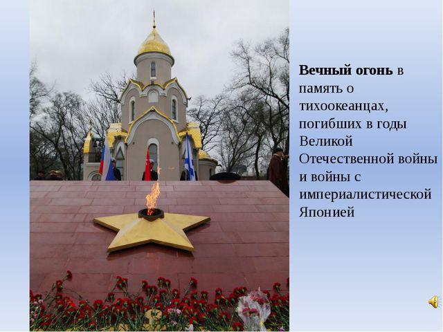 Вечный огонь в память о тихоокеанцах, погибших в годы Великой Отечественной в...