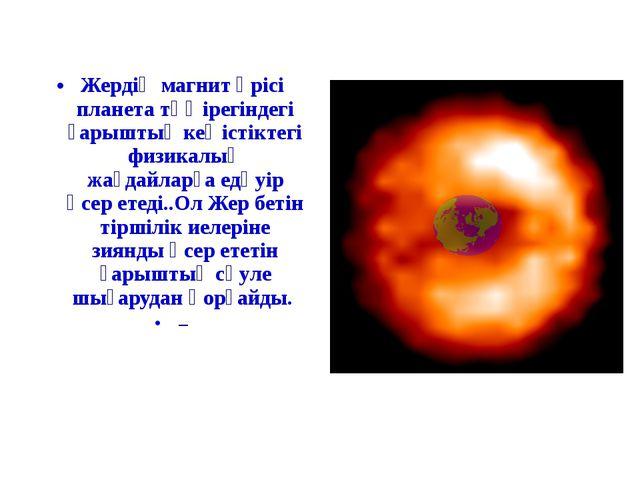 Жердің магнит өрісі планета төңірегіндегі ғарыштық кеңістіктегі физикалық жағ...