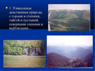 1. Уникальная девственная природа с горами и степями, тайгой и пустыней, севе