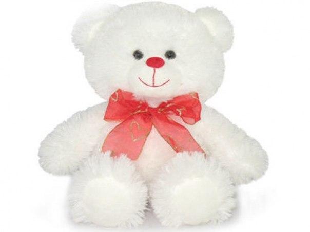 Мишка мягкая игрушка белый праздничный малый 22 см цена 265.00 руб. Lava (Мягкие игрушки)