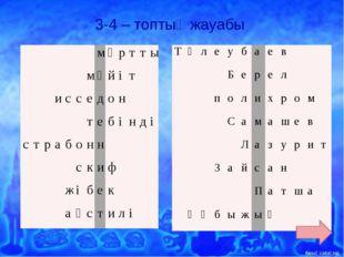 3-4 – топтың жауабы м ұ р т т ы м ә й і т и с с е д о н т е б і н д і с т р а