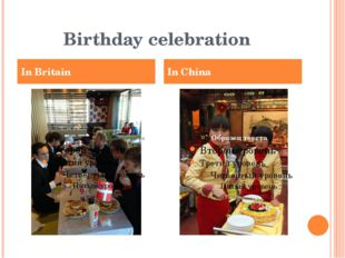 Birthday celebration In Britain In China