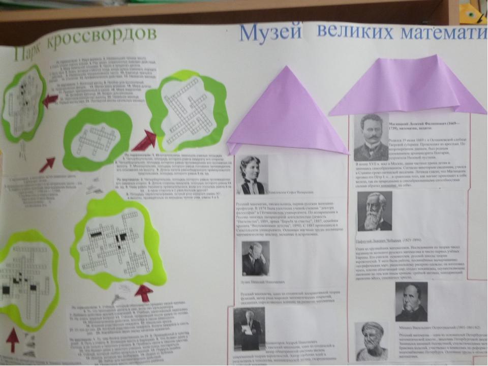 Раздел «Музей великих матаматиков»