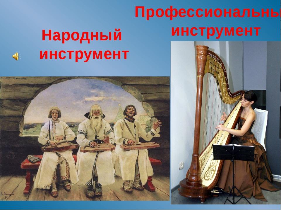 Народный инструмент Профессиональный инструмент