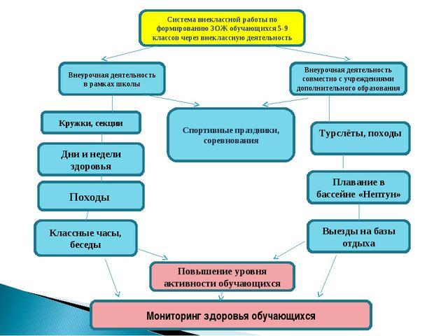 Система внеклассной работы по формированию ЗОЖ обучающихся 5-9 классов через...