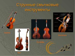Струнные смычковые инструменты Скрипка Альт Виолончель Контрабас