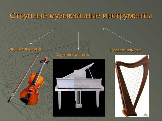 Струнные музыкальные инструменты Струнные смычковые Струнные клавишные Струнн...