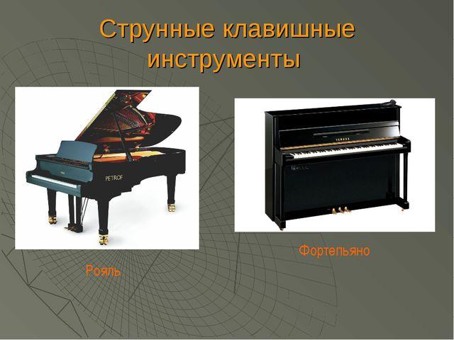 Струнные клавишные инструменты Рояль Фортепьяно