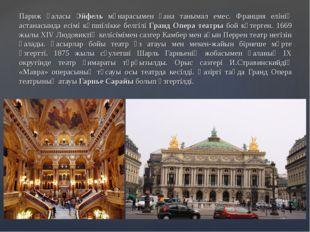 Париж қаласы Эйфель мұнарасымен ғана танымал емес. Франция елінің астанасынд