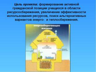 Цель проекта: формирование активной гражданской позиции учащихся в области ре