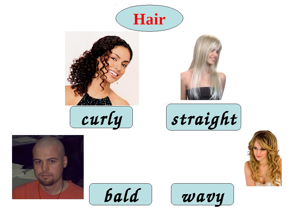 Hair curly wavy straight bald