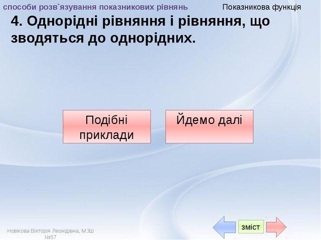 """Показникова функція Від автора Презентація """"Розв`язування показникових рiвня..."""