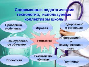 Современные педагогические технологии, используемые коллективом школы Информа
