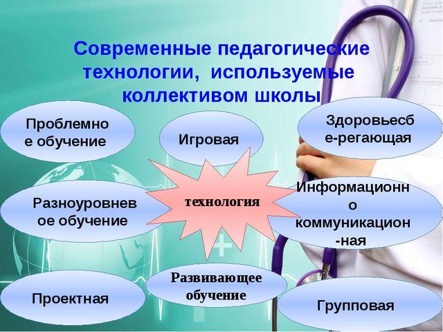 Современные педагогические технологии, используемые коллективом школы Информа...