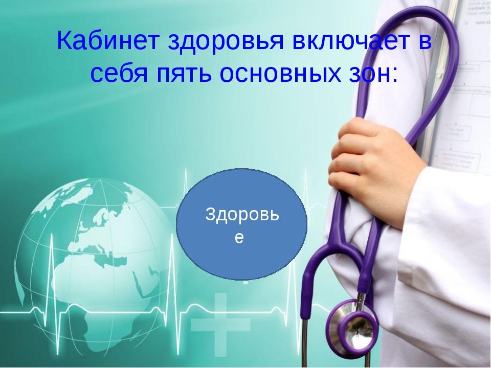 Кабинет здоровья включает в себя пять основных зон: Здоровье