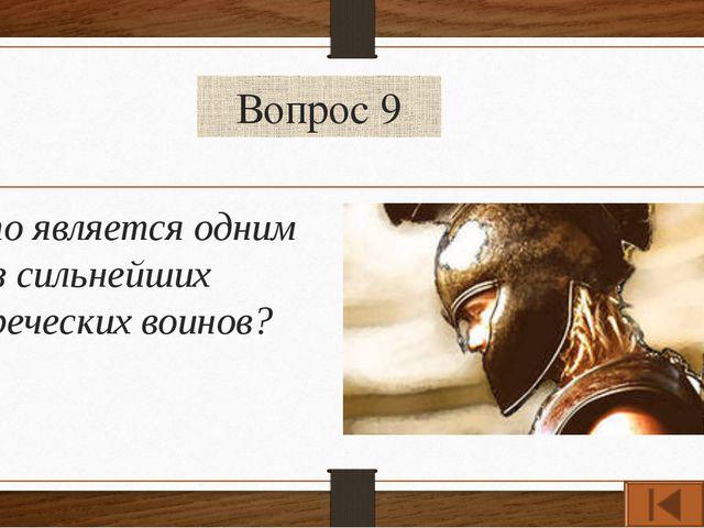 Вопрос 9 Кто является одним из сильнейших греческих воинов?