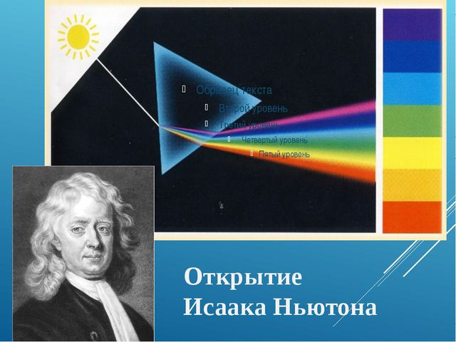 Открытие Исаака Ньютона