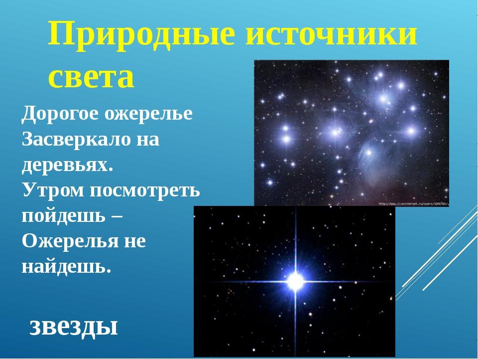 звезды Природные источники света Дорогое ожерелье Засверкало на деревьях. Утр...