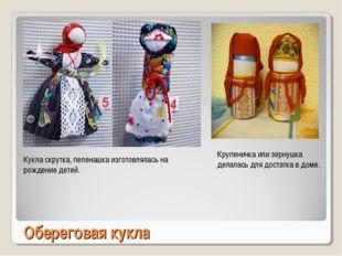 Обереговая кукла Кукла скрутка, пеленашка изготовлялась на рождение детей. Кр