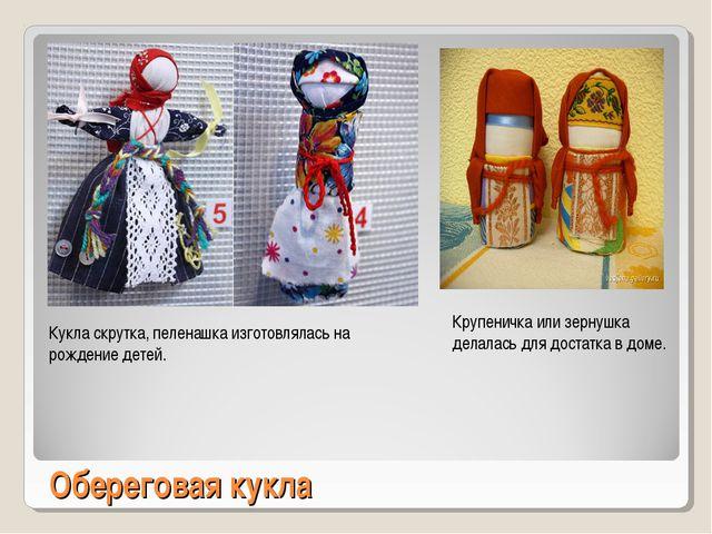 Обереговая кукла Кукла скрутка, пеленашка изготовлялась на рождение детей. Кр...
