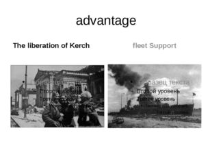 advantage The liberation of Kerch fleet Support