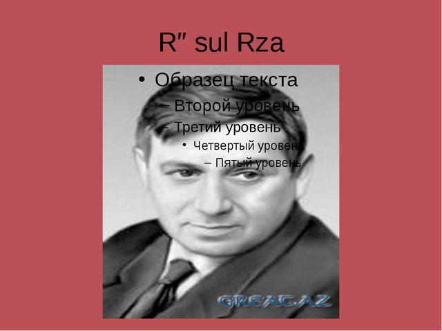 Rəsul Rza