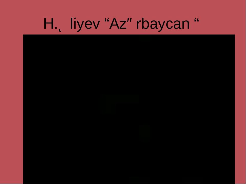 """H.Əliyev """"Azərbaycan """""""