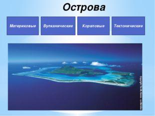 Острова Материковые Вулканические Кораловые Тектонические