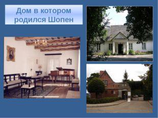Дом в котором родился Шопен