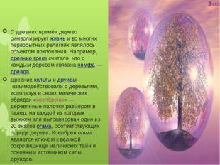 С древних времён дерево символизируетжизньи во многих первобытных религиях