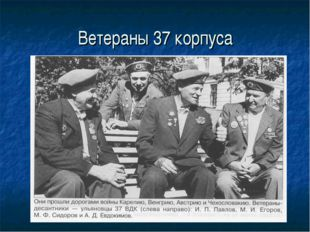 Ветераны 37 корпуса