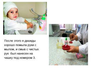 После этого я дважды хорошо помыла руки с мылом, и смыв с чистых рук был нане