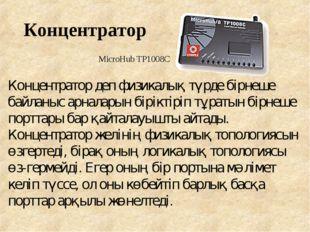 Концентратор MicroHub TP1008C Концентратор деп физикалық түрде бірнеше байлан