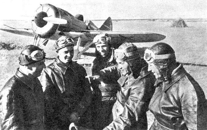 Группа лётчиков 22-го ИАП.