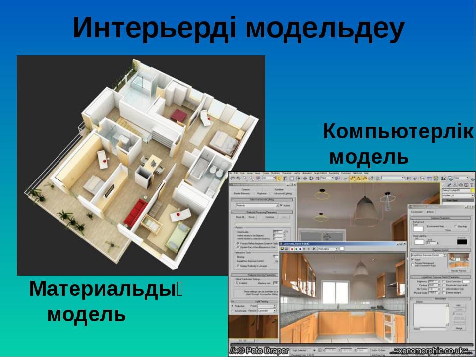 Интерьерді модельдеу Материальдық модель Компьютерлік модель