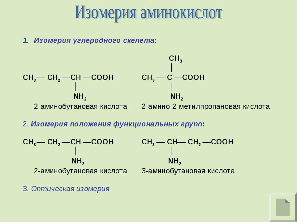 Изомерия углеродного скелета:  CH3   CH3  CH2 CH COOHCH3  C COOH  ...