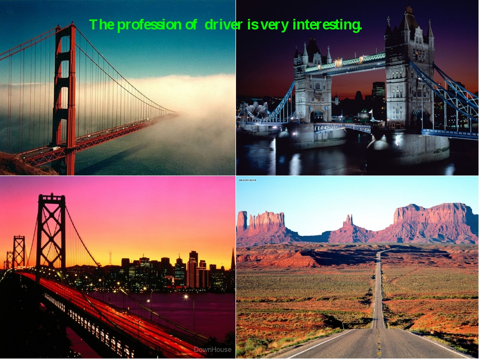 The profession of driver is very interesting.